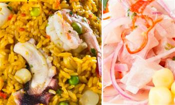 Trío marino para 2: cebiche + arroz con mariscos + jalea asesina