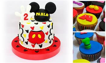 Delivery: Torta de 15 porciones + 12 o 24 cupcakes en masa elástica + bocaditos y más