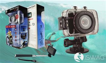 Iswag Xtreme Cam 720p HD con kit de accesorios:case a prueba de agua y más